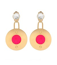 Marni Crystal Embellished Clip On Earrings Gold
