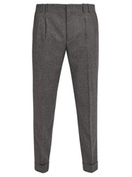 Paul Smith Pleated Wool Trousers Grey