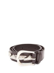 Isabel Marant Nyzo Metal Embellished Leather Belt Black