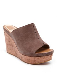 Dolce Vita Ross Suede Wedge Mules Almond