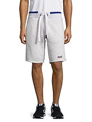Superdry Heathered Cotton Blend Shorts Ice
