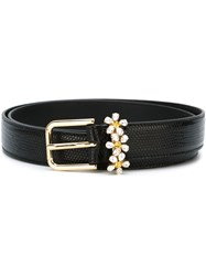 Dolce And Gabbana Embellished Belt Black