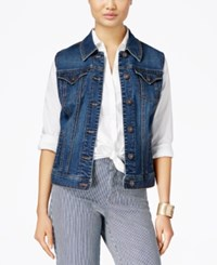 Styleandco. Style And Co. Mosaic Wash Denim Vest Only At Macy's