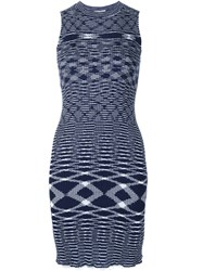 See By Chloe See By Chloe Zig Zag Knit Short Dress Blue