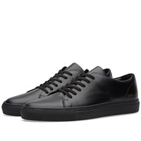 Common Projects Court Low Boxed Leather Black
