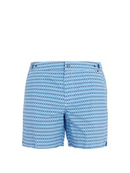 Danward Palma Square Print Swim Shorts Blue Multi