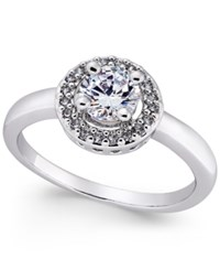 Charter Club Silver Tone Crystal Halo Statement Ring Only At Macy's