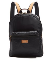Paul Smith Leather Trimmed Nylon Backpack Black Multi