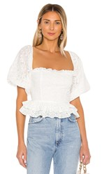 The Jetset Diaries Vivienne Blouse In White.
