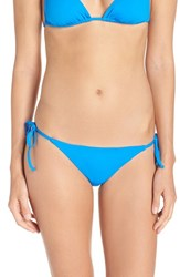 Becca Women's 'Color Code' Side Tie Bikini Bottoms Water