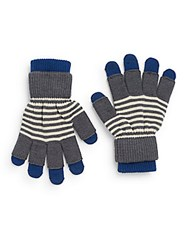 Rogue Layered Striped Gloves Navy