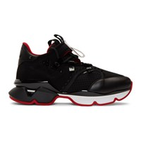 Christian Louboutin Black Red Runner Flat Sneakers