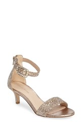 Pelle Moda Women's Bette Ankle Strap Sandal Platinum Gold