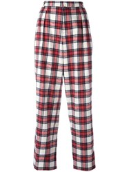 Each X Other Tartan Slouchy Pants Red