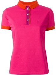 Fay Classic Logo Polo Shirt Pink And Purple
