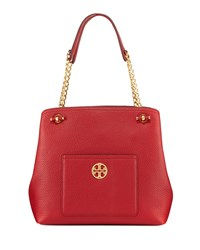 Tory Burch Chelsea Slouchy Leather Shoulder Tote Bag Redstone