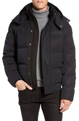 Andrew Marc New York Men's 'Summit' Embossed Down Jacket With Detachable Hood