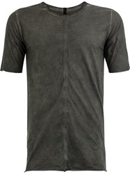 Isaac Sellam Experience Short Sleeve Fitted T Shirt Grey