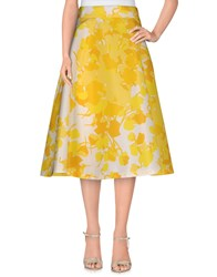 Space Style Concept Skirts 3 4 Length Skirts Women Yellow