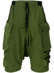 Unravel Project Cargo Shorts Green