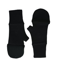 Lauren Ralph Lauren Cotton Poly Fleece Fingerless Mitten Black Over Mits Gloves