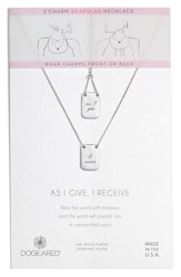 Dogeared As I Give I Receive Layered Necklace Silver