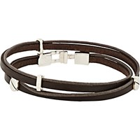 Zadeh Men's Gavriel Wrap Bracelet Brown
