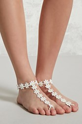 Forever 21 Daisy Foot Chain Set White Yellow