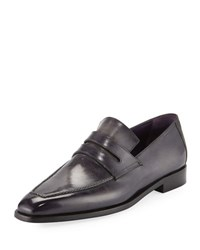 Berluti Demesures Emblematic Leather Penny Loafer Black