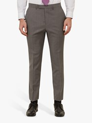 Ted Baker Whitbe Wool Tailored Suit Trousers Grey