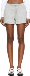 Alexander Wang Grey Scuba Neoprene Shorts
