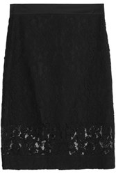 Dkny Cotton Blend Lace Skirt Black