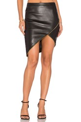 Michelle Mason Asymmetrical Zipper Skirt Black