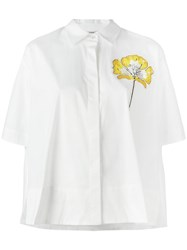 P.A.R.O.S.H. Clayxy Floral Decal Shirt White
