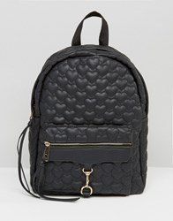 Yoki Fashion Quilted Backpack Black