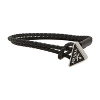 Prada Leather Bracelet Nero