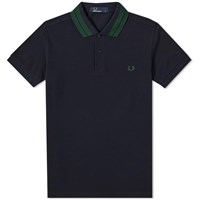 Fred Perry Bold Tipped Pique Polo Blue