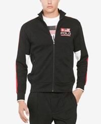 Polo Ralph Lauren Men's Double Knit Track Jacket Black