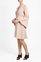 Elie Saab Women S Flare Sleeve Macrame Dress Boutique1 Pink