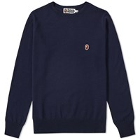 A Bathing Ape One Point Crew Knit Blue