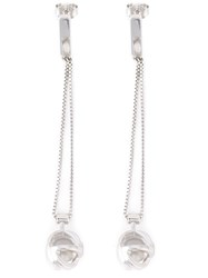 Lara Bohinc 'Planetaria' Drop Earrings Sterling Silver Metallic
