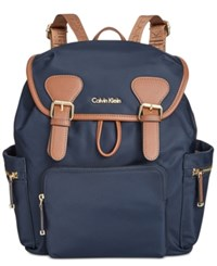 Calvin Klein Small Double Buckle Backpack Navy