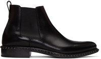 Givenchy Black Lizard Iconic Stud Chelsea Boots