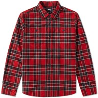 Stussy Double Brush Flannel Shirt Red