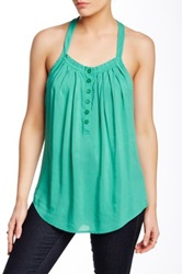 Autograph Addison Ruffled Trim Tank Green