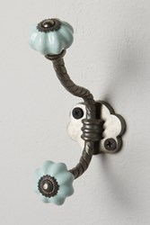 Anthropologie Ceramic Melon Hook Sky