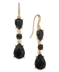 Charter Club Gold Tone Jet Stone Drop Earrings Created For Macy's