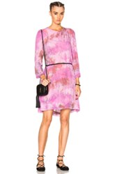 Raquel Allegra Swing Dress In Pink Ombre And Tie Dye Pink Ombre And Tie Dye