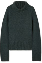 Khaite Wallis Cashmere Turtleneck Sweater Green