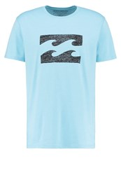 Billabong Ghosted Core Fit Print Tshirt Aqua Blue Light Blue